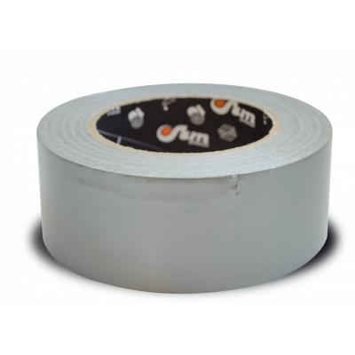 Лента полиэтиленовая клеевая армированная Тилит серебристо-серая шир. 48 мм, дл.50 п.м