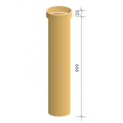 Тpуба дымоходная керамическая муфтовая MULTIkeram 120мм, 1 000 мм