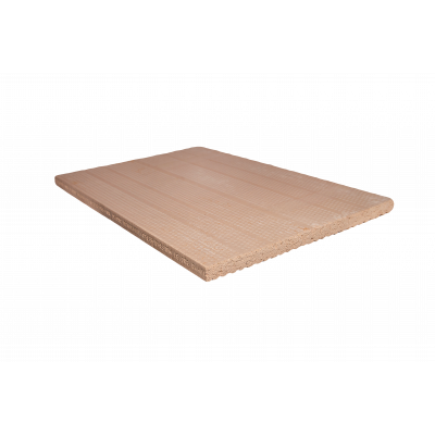 Шамотная плита НВО+ 600х250х60 мм  с пазом с двух сторон