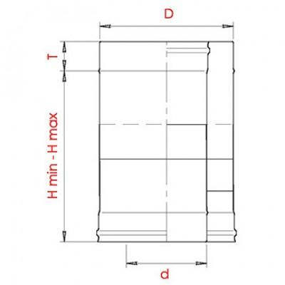 Труба-сэндвич компенсатор фикс 370-540 мм