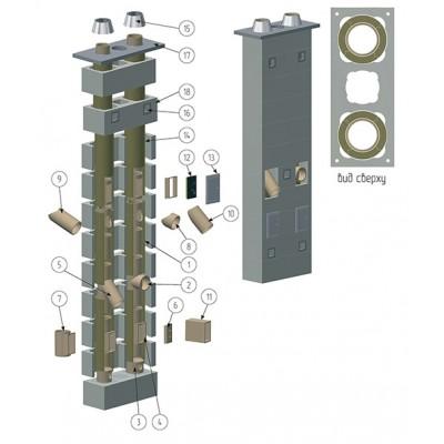 Дымоходная система 200мм Offen KS ECOTON S Block 6 метров