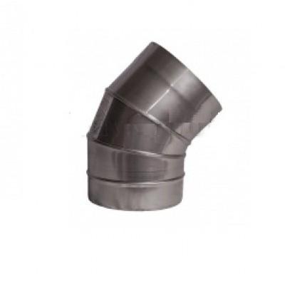 Колена 45° из нержавеющей стали S=1 мм