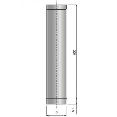 Труба из нержавеющей стали ø120, L=1000, S=1 мм