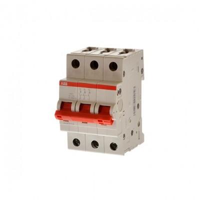 ABB Рубильник 3 полюсной SD203 40 рычаг красный