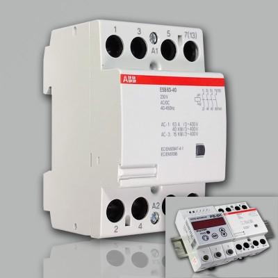 ABB Модульный контактор ESB-63-40 (63А АС1) 220В АС DC 1 шт
