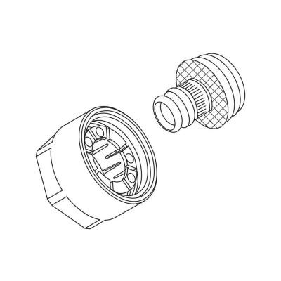 Резьбозажимное соединение flex/pink 16х2,2xG3/4
