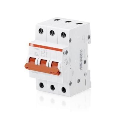 ABB Рубильник 3 полюсной SHD203 25 рычаг красный
