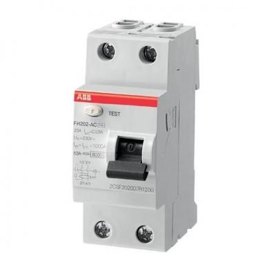 АВВ УЗО Выключатель Диф. тока 2 модуля FH202 АС-25 0,03 1 шт