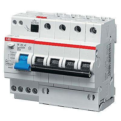 ABB Дифференциальный автомат 6 модулей DS204 AC-C10 0.03 1 шт