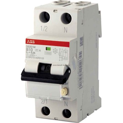 ABB Дифференциальный автомат DS201 C10 AC30 1 шт