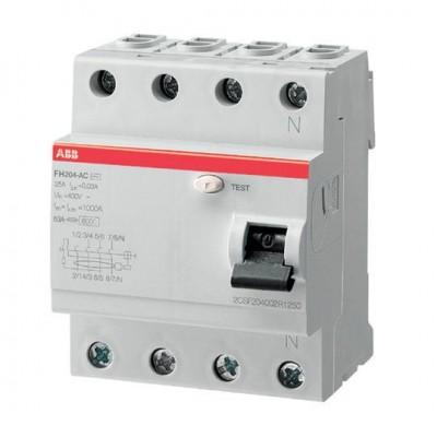 АВВ УЗО Выключатель Диф. тока 4 модуля FH204 AC-25 0,3 1 шт