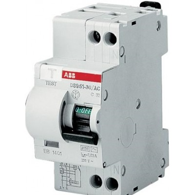 ABB Дифференциальный автомат DS951 C10 30мА тип АС 1 шт